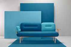 """David Galvañ and Manuel Bañó, of design studio La Selva, created Cosmo, a multifunctional sofa for Missana. Cosmo throws out the idea of a traditional sofa with a versatile, customizable option. Sofa Design, Design Furniture, Home Furniture, Steel Furniture, Furniture Ideas, Three Seater Sofa, Deco Design, Fabric Sofa, My New Room"