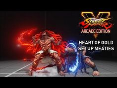 Street Fighter 5 : Arcade Edition - Necalli V-Trigger 2 setup meaty Street Fighter 5, Gold Set, Heart Of Gold, Arcade, Gaming, Videogames, Game