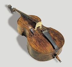 A double bass, by Jacob Stainer (1617-1683). At the Tiroler Landesmuseum Ferdinandeum.