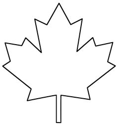 Coloring Page Leaves Template Free Printable Maple Leaf Clipart