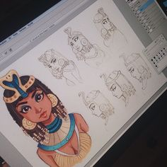 Still working on that Cleopatra project for uni though✨