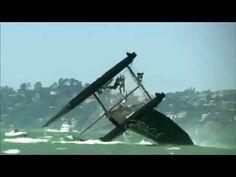 America's Cup - San Francisco 2013: capsized
