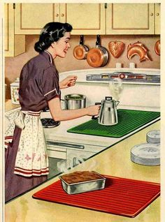 5 Top Tips and Tricks: Kitchen Decor Gray Interiors kitchen decor simple cabinet doors.White Pineapple Kitchen Decor rooster and sunflower kitchen decor. Café Vintage, Mode Vintage, Vintage Prints, Vintage Posters, Vintage Pictures, Vintage Images, Retro Images, Tips And Tricks, Vintage Housewife