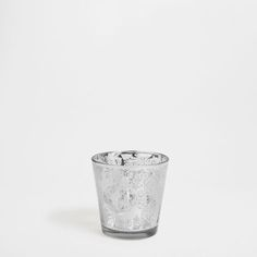 Silver transfer glass tealight holder - Tealights - Decoration   Zara Home Turkey