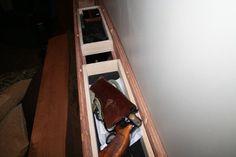 Secret Gun Compartment in Bed Headboard