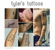 Tyler's tattoos reference