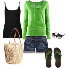 Love lime green and I am definitely making myself a pair of flip flops with ribbon bows on them!!