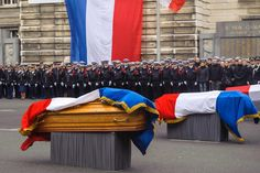 Week of Jan 16, 2015 A ceremony is held in front of French police headquarters in Paris for the three police officers killed last week on the day of the attack on the offices of satirical magazine Charlie Hebdo. CHRISTOPHE PETIT TESSON/ZUMA PRESS