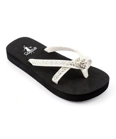 d43cf6ad5f0e Corkys Footwear White Jewel Weather Flip-Flop - Kids