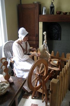 Brooklyn - Prospect Park: Lefferts Homestead - Spinning flax to linen by wallyg, via Flickr