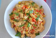 SW - Chicken, Red Pepper and Sweetcorn Risotto Slimming Eats - Slimming World Recipes Slimming World Diet, Slimming Eats, Slimming World Recipes, Vegetarian Recipes, Cooking Recipes, Healthy Recipes, Cooking Ideas, Healthy Meals, Risotto Recipes