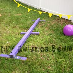 DIY Balance Beam. Great for outdoor fun!  I made one of these ten years ago and the kids used it for many years; they couldn't stay off of it. It was just as tempting as  a curb or low-brick wall.