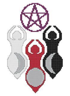 Triple Goddess Counted Cross Stitch Pattern