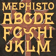 One of the great Horror Fonts from Scriptorium Fonts, Art and Design