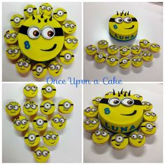 Minion cupcakes and a Minion Birthdaycake!