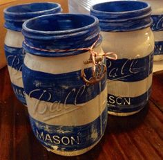 Nautical Mason Jars by crosscreekcandies on Etsy, $7.95
