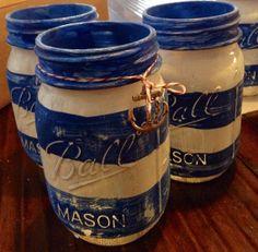 Nautical Mason Jars by crosscreekcandies on Etsy, $7.95