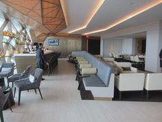 Etihad Airways lounge, JFK Airport.