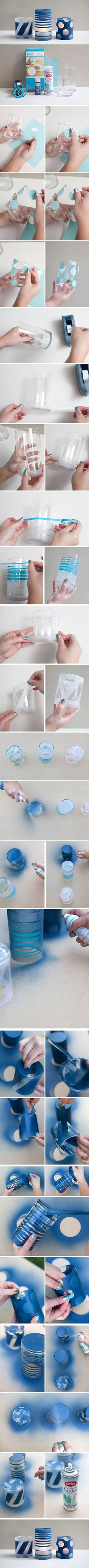 DIY Painted Glass Jars: