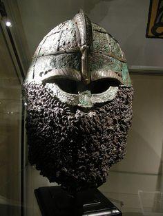 Pre-Viking helmet by Mélisande*, via Flickr.  Valsgarde 8 helmet .Predates Viking Age.