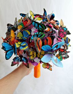 RESERVED for E Strauss Orange Butterfly Bouquet от JewelryBouquet