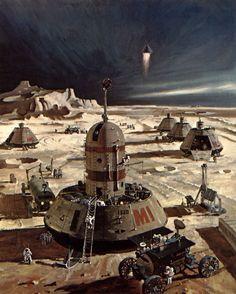 Robert McCall SLEEK FUTURE. Retro Futurism. Sci-fy.  Dystopia.