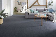 Carpet For Living Room Fluffy - Contemporary Carpet Pattern - Carpet Floor Colors - Dark Carpet Furniture Dark Grey Carpet Living Room, Dark Carpet, White Carpet, Blue Carpet, Patterned Carpet, Carpet Colors, Living Room Grey, Modern Carpet, Living Rooms