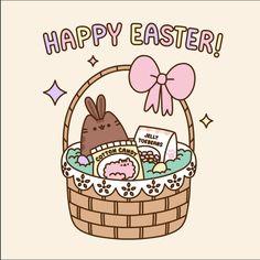 Happy easter // Pusheen the cat Gato Pusheen, Pusheen Love, Kawaii 365, Kawaii Cute, Happy Easter Gif, Pusheen Stormy, Nyan Cat, Kawaii Drawings, Cat Drawing