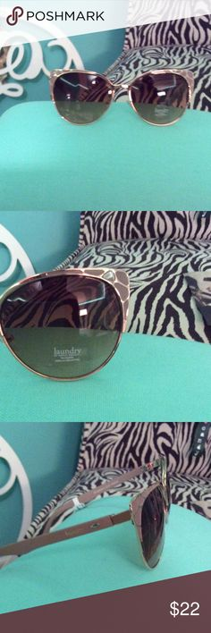 Stylish sunglasses by Laundry NWT Laundry Mauve with gold tones sunglasses. Very comfortable $22   🔶 Please ask all your questions before you purchase. I'm happy😊 to help  🔶 Sorry, no trades or hold. 🔶 Please, no lowball offers. 🔶 Please use the Offer Button 🔶 Bundle for your best prices 🔶 Ships next day, if possible 🎀 Thank you for visiting my closet 🎀 Laundry by Design Accessories Sunglasses