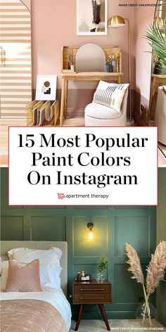 These are the 15 most popular paint colors, according to Instagram. #paintcolors #instagram #instagramtrends #decortrends #decoratingideas #paintcolorideas #paintprojects #wallcolor #designinspiration