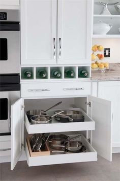 Browse photos of Unique And Clever Kitchen Storage Ideas For Your Solutions, and discover Kitchen Storage Hacks And Solutions For Your Home, Kitchen Storage Solutions, Small Kitchen Storage Ideas for a More Efficient Space, and more. Clever Kitchen Storage, Kitchen Storage Solutions, Kitchen Cabinet Storage, Kitchen Cabinets In Bathroom, Kitchen Cabinetry, Kitchen Furniture, Kitchen Organization, Organization Ideas, Storage Cabinets