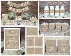 Save OVER 50% with the Baby Shower Mega Set! This adorable printable Rustic Neutral Baby Shower MEGA SET has Everything you need to throw a perfect baby shower that will be sure to impress your guests. ►All files will be emailed to your ETSY email address within 24-48 hours. No items will be shipped in the mail. ►If chosen personalization During checkout in the message box notes to seller Please include: 1. Honorees name Package Includes • Sweet Baby banner ( Each flag measure 5 x 7) • C...