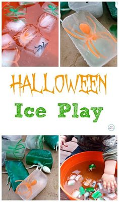 Ice Play Halloween Ice Play - So much fun! Great activity for toddlers through early Ice Play - So much fun! Great activity for toddlers through early Halloween Theme Preschool, Halloween Activities For Toddlers, Halloween Games, Halloween Crafts For Kids, Autumn Activities, Holidays Halloween, Baby Halloween, Preschool Crafts, Toddler Activities
