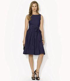 Lauren Ralph Lauren Pleated Fit & Flare Dress - DIllards