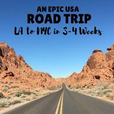 USA Roadtrip | Roadtrip Itinerary | 4 Weeks USA Itinerary | 3 Week USA Itinerary | Road trip | USA Road Trip