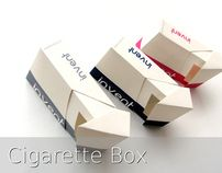 Cigarette box packaging
