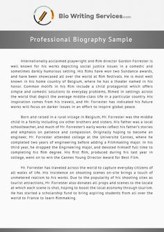 how to write net how to write a biography about  professional biography sample that can put you on the right writing track see more great