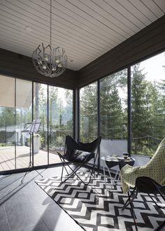 Terassilla kelpaa paistatella auringossa House Extensions, Presentation, Space, Interior, Home, Floor Space, Indoor, Ad Home, Interiors