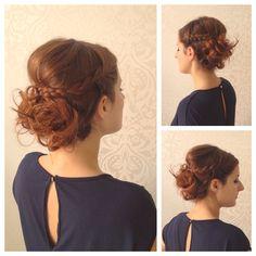 Braid hair updo - festive boho hair style