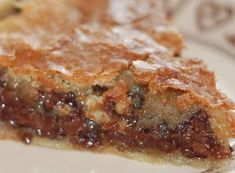 OMG!!!!!!! Tuscaloosa Tollhouse Pie - a cross between a pecan pie and a chocolate chip cookie!.