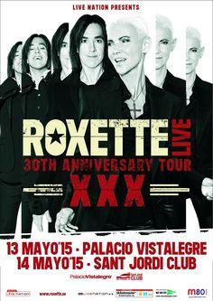 Roxette @TheRealRoxette estarán en Madrid el 13/5 y Barcelona el 14/5