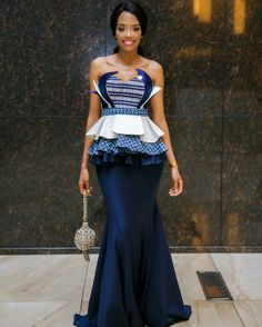 shweshwe dresses trends of 2019 - Reny styles Traditional Dresses Designs, African Traditional Wedding Dress, Traditional Wedding Attire, Traditional Outfits, Traditional Weddings, African Wedding Attire, African Attire, African Wear, African Women