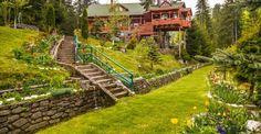 Home - Hadar Chalet Pune, Garden Bridge, Romania, Golf Courses, Sidewalk, Outdoor Structures, Mansions, House Styles, Travel