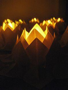 Tea light-paper Lotus-Origami water lily