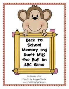 ABC recognition monkey game!  $2.00