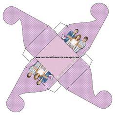 Violetta - Kit Completo com molduras para convites, rótulos para guloseimas, lembrancinhas e imagens!