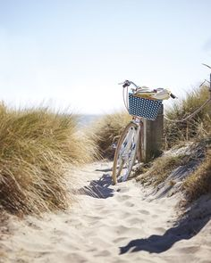 Bike rides by the beach. This post will take you to the cute bike basket, but we just loved the overall feel of this relaxed, coastal situation! Beach Day, Beach Trip, Beach Travel, At The Beach, Summer Beach, Beach Please, Beach Aesthetic, Summer Aesthetic, Beach Cottages