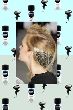 "Amazing ""printed"" hair backstage at #Rodarte SS14 #nyfw"