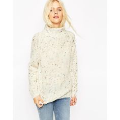ASOS Jumper with Grown On Neck in Nep Yarn (€63) ❤ liked on a8d85dcc055