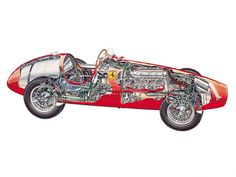 Last week we brought you Cutaway Drawings of Ferrari's road and race cars. Today we would like to highlight specifically Ferrari's Formula 1 cars from 1948 to The majority of year… Ferrari F1, Formula 1 Car, Technical Drawing, Cutaway, Art Cars, Nascar, Cars And Motorcycles, Cool Cars, Antique Cars